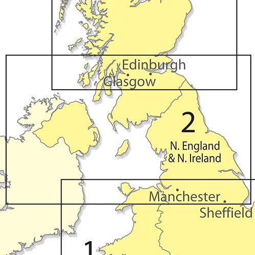 CAA Chart Northern England and Northern Ireland 1:500000