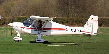 Ikarus C42 landing