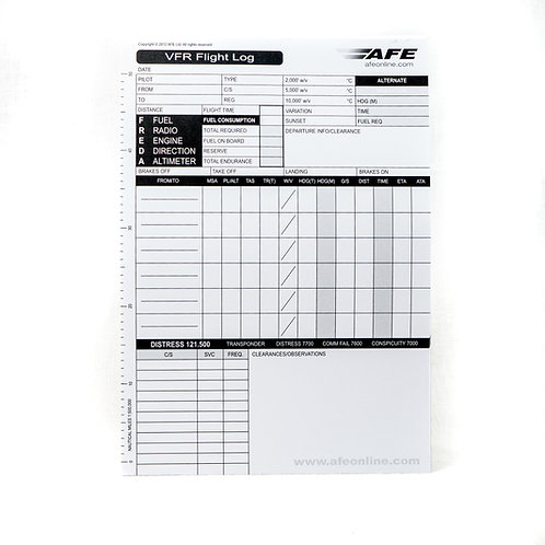 VFR Flight Log Sheets
