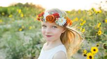 Adeline in the Sunflowers| San Antonio Children's Photographer