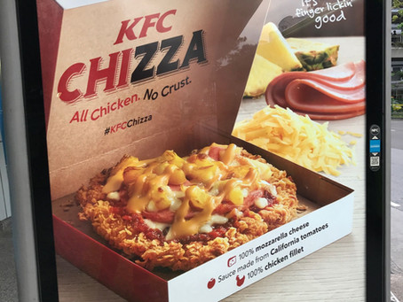I tried KFC's Chizza! (And learnt the value of marketing and ROI.)