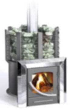 Печь банная Ермак Классика 16-ПС / СЕТКА (2012) Панорама- стекло(245*245)