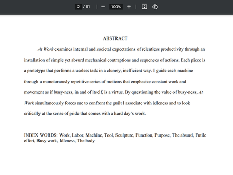 Thesis Paper Access (AT WORK)