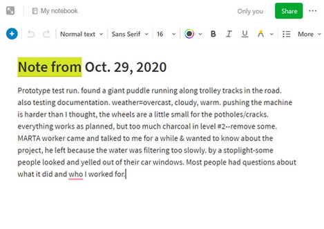Note from Oct. 29, 2020