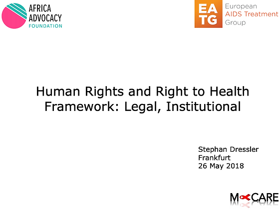 Stephan Dressler - Human Rights and Right to Health