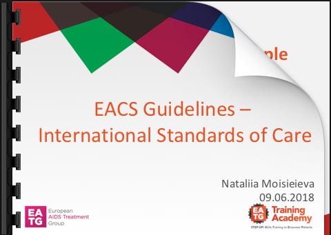 EACS Guidelines - International Standards of Care