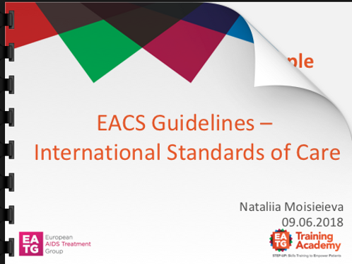 EACS Guidelines - International Standards of Care