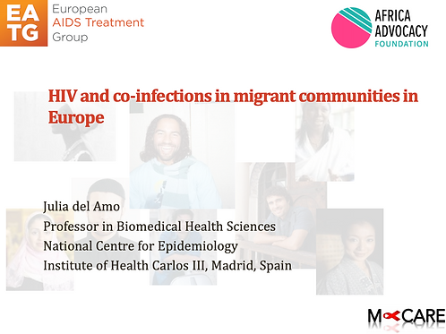Julia Del Amo - HIV and Co-infections in migrant communities in Europe