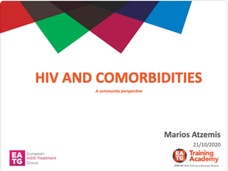 HIV AND COMORBIDITIES, A community perspective