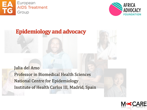 Julia del Amo - Epidemiology and Advocacy