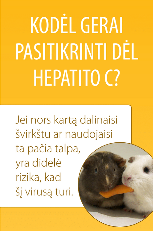 """Why to get tested for HCV"""" 2014-20 - Lithuanian"""