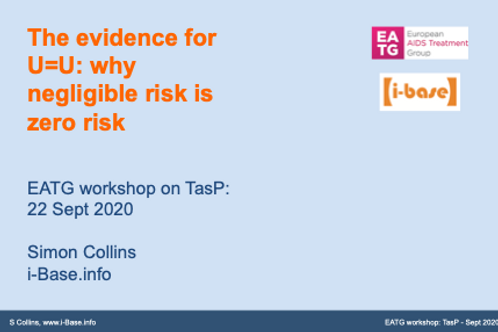 The evidence for U=U: why negligible risk is zero risk