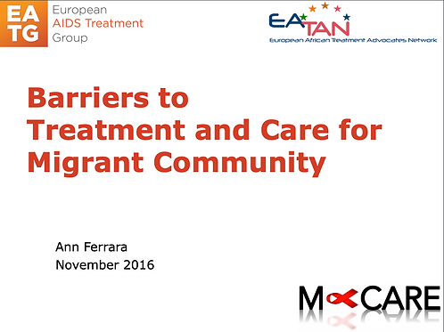 M-Care 2016-Barriers to Treatment and Care for Migrant Community