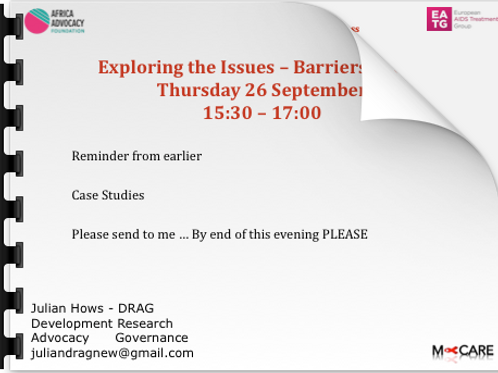 Julian Hows Exploring the Issues Barriers to Access