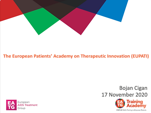The European Patient's Academy on Therapeutic Innovation (EUPATI)