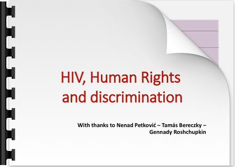 Julian Hows HIV Human Rights and discrimination