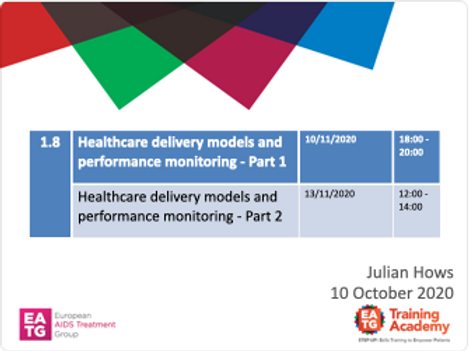 Healthcare delivery models and performance monitoring
