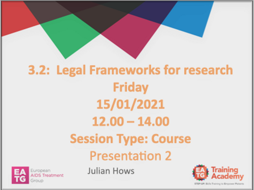 Legal Frameworks for research