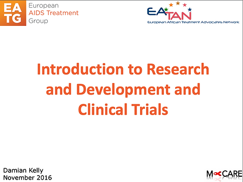 M-Care 2016-Introduction to Research and Development and Clinical Trials