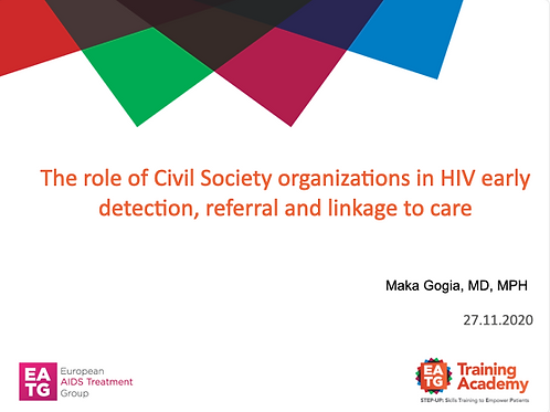 The role of Civil Society organizations in HIV early detection, referral and linkage to care