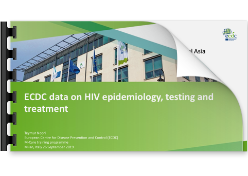 Teymur Noori ECDC data on HIV epidemiology, testing and treatment