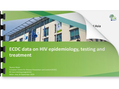 Teymur Noori ECDC data on HIV epidemiology, testing and treatment