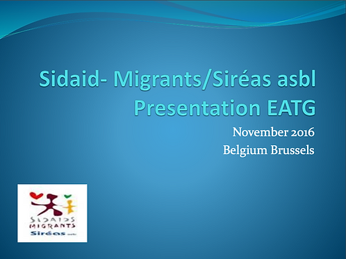 M-Care 2016-Presentation of Sidaid- Migrants