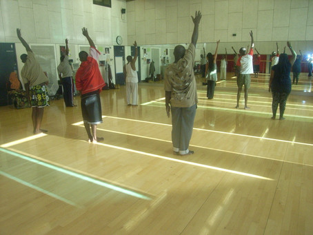 OPAM members during physical exercise session