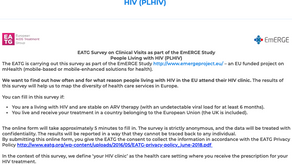 Take part in a 5-minute survey regarding visits in your HIV clinic
