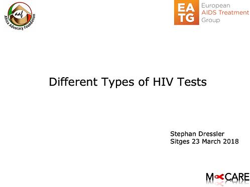 Stephan Dressler - Different Types of HIV Tests