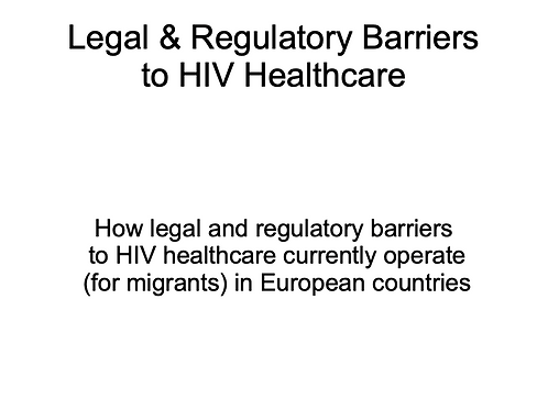 Lisa Power - Legal and regulatory barriers to Healthcare access