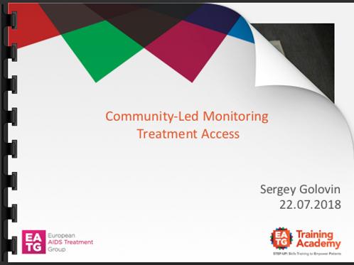 Community-Led Monitoring Treatment Access