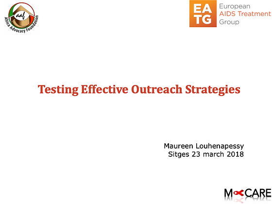 Maureen Louhenapessy - Effective outreach strategies for testing and prevention