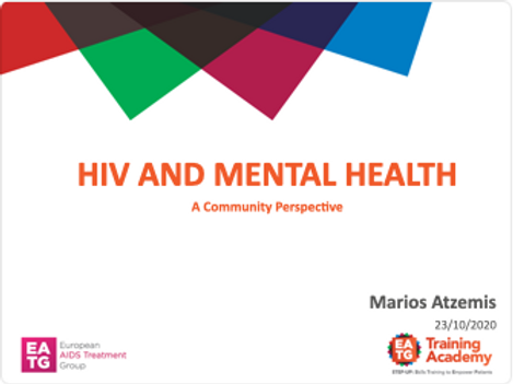 HIV and mental health, a community perspective