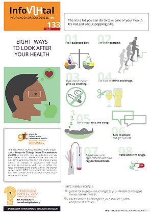 Eight Ways to Look After Your Health - French