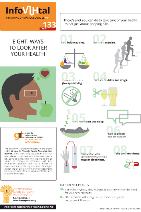 Eight Ways to Look After Your Health - Portuguese
