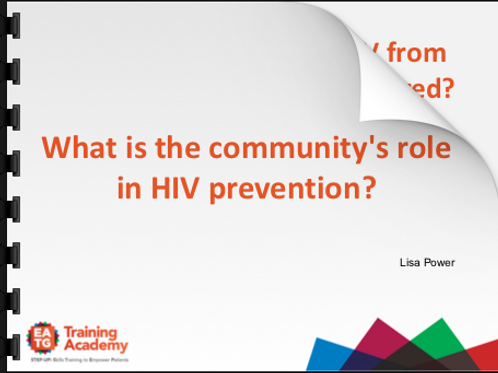 Community priorities for Prevention