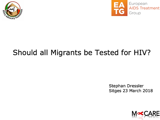 Stephan Dressler - Should every migrant be tested for HIV?
