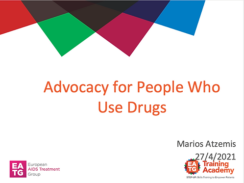 Advocacy for People Who Use Drugs, Marios Atzemis