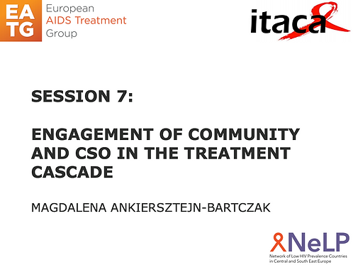 ITACA-Session 7 Engagement of community and CSO on treatment Cascade