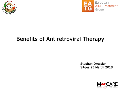Stephan Dressler - Advantages of Antiretroviral Therapy