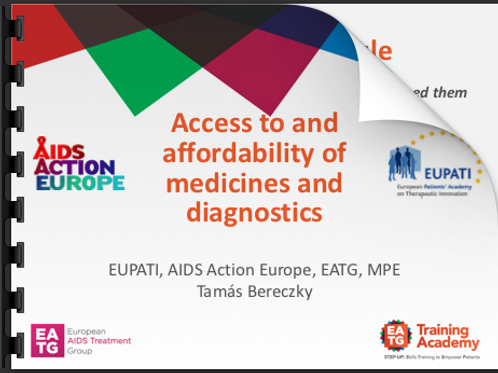 Access to and affordability of medicines and diagnostics