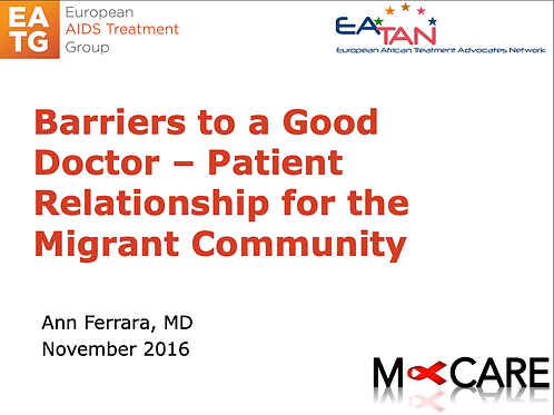 M-Care 2016-Barriers to a Good Doctor – Patient Relationship for the Migrant ...