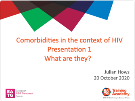 Comorbidities in the context of HIV Presentation 1
