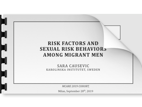 Sara Causevic Risk factors and sexual risk behaviors among migrant men