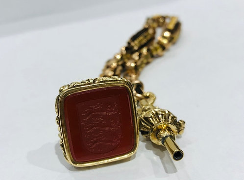 Antique Gold Seal and Watch Key