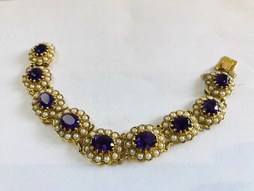 Victorian Gold and Amethyst Bracelet