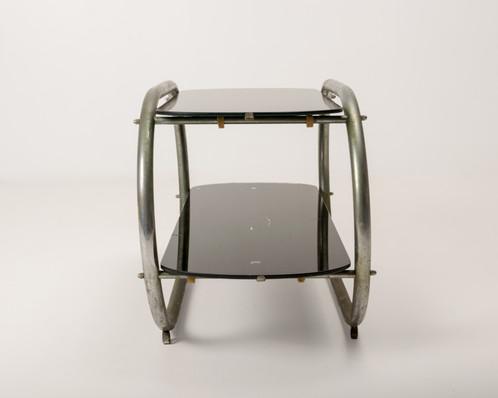 Side Table Two Tier Streamline Moderne