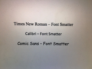 Publishing 101: Font Smatter