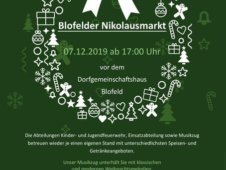 Einladung zum Blofelder Nikolausmarkt 2019